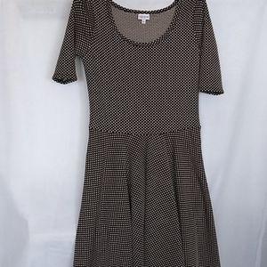 LulaRoe Black and White Polka Dot Dress XL